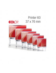 Timbro Printer 60 G7 Autoinchiostrante 37X76Mm 8 Righe Colop - PR 60 G7 BI
