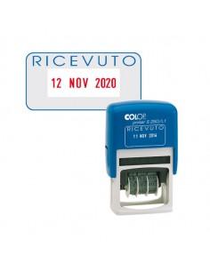 Timbro S260/L1 Datario + Ricevuto 4Mm Autoinchiostrante Colop - S260L1.BLS
