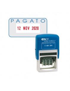 Timbro S260/L2 Datario + Pagato 4Mm Autoinchiostrante Colop - S260L2.BLS