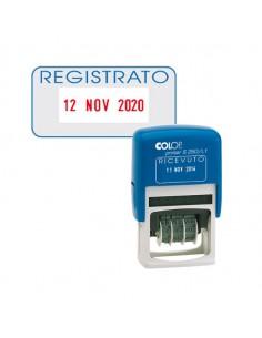 Timbro S260/L3 Datario + Registrato 4Mm Autoinchiostrante Colop - S260L3.BLS