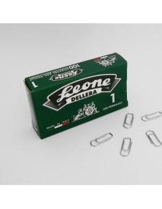 Scatola 100 Fermagli N.1 Mm20 Zincati Antiruggine Leone - FZ1 - (conf. 10)