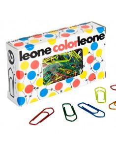 Scatola 100 Fermagli Colorati E Metallizzati N.2 Mm26 Leone Color - FX10 - (conf. 10)
