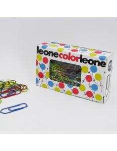 Scatola 100 Fermagli Colorati E Metallizzati N.3 Mm28 Leone Color - FX103 - (conf. 10)