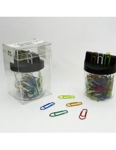 Dispenser Magnetico 125 Fermagli Colori Metal N.2 Mm26 Leone Color - FXM2