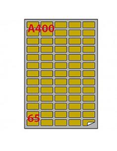 Etichetta Adesiva A/400 Oro 100Fg A4 Laser 38,1X21,2Mm (65Et/Fg) Markin - 220LGA400