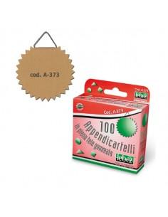 Scatola 100 Appendicartelli Adesiv. Tela Gommata Art.A373 - A-373