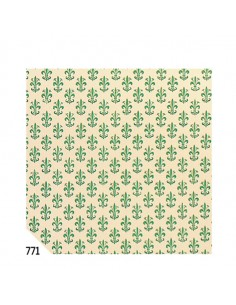 Rotolo Cartarivesto 50X500Cm Giglio Verde Lavabile Rex58 - REX58-771