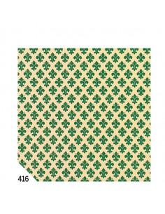 Rotolo Cartarivesto 49X300Cm Giglio Verde Adesivo Rextaco - T33Y3-416