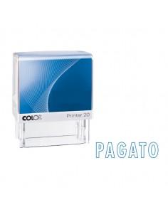 """Timbro Printer 20/L G7 Autoinchiostrante 14X38Mm """"Pagato"""" Colop - PRINTER.20/L0126"""