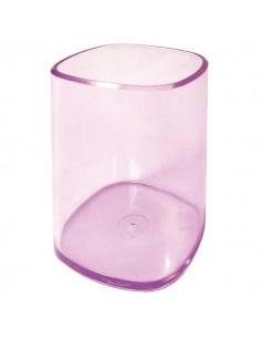 Portapenne Bicchiere Trasparente Viola Arda - TR4111VI