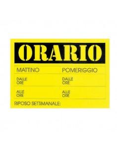 Cartello In Cartoncino 'Orario Dalle..Alle..' 23X32Cm Cwr 315/13 - 315/13 - (conf. 10)