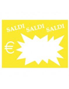 Conf. 50 Segnaprezzi Flash Saldi 8X11Cm Colori Ass. Cwr 06043 - 06043