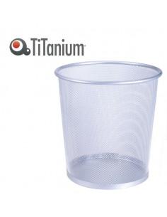 Cestino Gettacarte 12Lt Silver In Metallo Titanium - 72830-TI