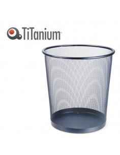 Cestino Gettacarte 12Lt Nero In Metallo Titanium - 72831-TI