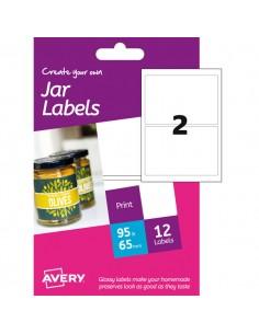 Etichetta Adesiva Hjj01 Carta Glossy 6Fg A6 64X95Mm (2Et/Fg) Inkjet Avery - HJJ01