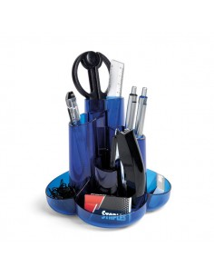 Desk Set C/Accessori Blu Traslucido 60571 Niji - 60571