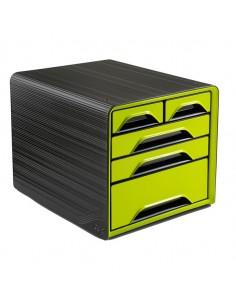 Cassettiera 5 Cassetti Misti Nero/Verde Anice 7-213 Smoove Cep - 1072130301