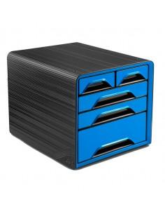 Cassettiera 5 Cassetti Misti Nero/Blu Oceano 7-213 Smoove Cep - 1072130351