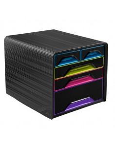 Cassettiera 5 Cassetti Misti Nero/Multicolore 7-213 Smoove Cep - 1072130411