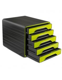 Cassettiera 5 Cassetti Standard Nero/Verde Anice 7-111 Smoove Cep - 1071110301