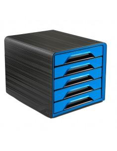 Cassettiera 5 Cassetti Standard Nero/Blu Oceano 7-111 Smoove Cep - 1071110351