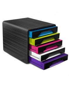 Cassettiera 5 Cassetti Standard Nero/Multicolori 7-111 Smoove Cep - 1071110411