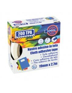 Nastro Adesivo Telato Tpa Rosso 200 19Mmx2,7Mt Eurocel - 016214194