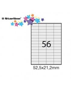 Etichetta Adesiva Bianca 100Fg A4 52,5X21,2Mm (56Et/Fg) Starline - STL3018