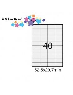 Etichetta Adesiva Bianca 100Fg A4 52,5X29,7Mm (40Et/Fg) Starline - STL3019