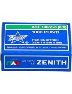 Punti metallici ZENITH 130/Z6 6/6 Conf. 1000 pezzi - 0301303601