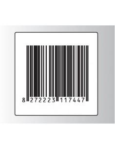 Rt. 500 Etichette Antitaccheggio - f.to 40x40 mm - disat. - 8,20MHz - falso barcode (ordine minimo 4 rt.)