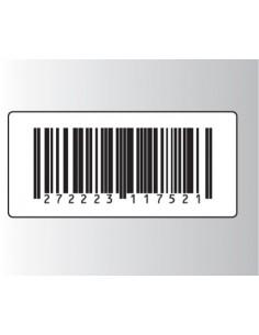 Rt. 500 Etichette Antitaccheggio - f.to 50x23 mm - disat. - 8,20MHz - falso barcode (ordine minimo 4 rt.)