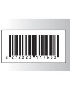 Rt. 500 Etichette Antitaccheggio - f.to 58x30 mm - disat. - 8,20MHz - falso barcode (ordine minimo 4 rt.)