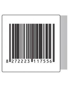 Rt. 500 Etichette Antitaccheggio - f.to 50x50 mm - disat. - 8,20MHz - falso barcode (ordine minimo 4 rt.)