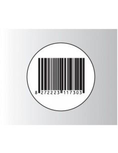 Rt. 500 Etichette Antitaccheggio - f.to Ø 33 mm - disat. - 8,20MHz - falso barcode (ordine minimo 4 rt.)