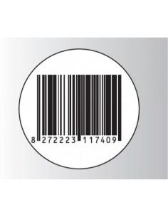 Rt. 500 Etichette Antitaccheggio - f.to Ø 40 mm - disat. - 8,20MHz - falso barcode (ordine minimo 4 rt.)