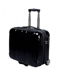 Trolley portadocumenti JSA in policarbonato 43x21x40 cm nero 45513