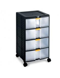 Cassettiera modulare TERRY StoreAge 44001 nero/trasparente 1002296