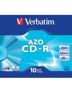 CD-R AZO Verbatim 52x 700 MB Conf. 10 pezzi - 43342