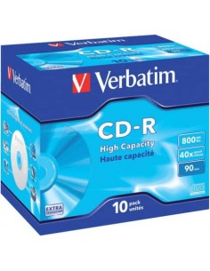 CD-R High Capacity Verbatim 800 MB conf. da 10 - 43428