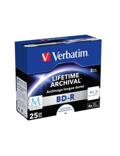 Blue-Ray BD-RE M-Disk Verbatim 4x 25 GB Conf. 5 pezzi - 43823