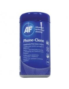 Salviette detergenti AF International Phone-Clene Barattolo da 100 salviette - APHC100T