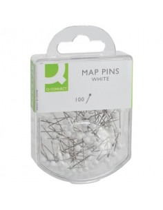 Spilli cartografici Q-Connect 15 mm bianco conf. da 100 - KF15279