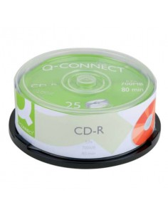 CD-R Q-Connect Cake 25 700 MB 80 min 52x conf. da 25 pezzi - KF00420
