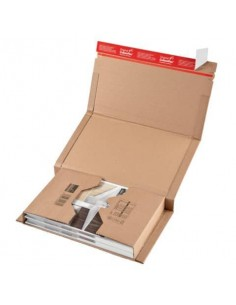 Scatola fustellata ColomPac in cartone ondulato f.to35,3x22,5x10 cm avana conf. da 20 scatole - CP 020.08