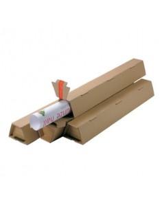 Tubo fustellato per spedizioni ColomPac in cartone ondulato 430×105/55×75 mm avana - CP 070.02