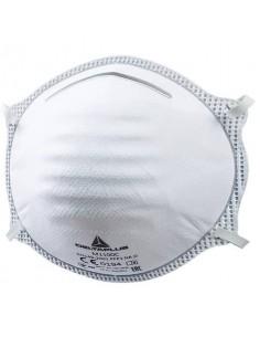 Mascherine di protezione Delta Plus FFP1 fibra sintetica non tessuto -stringinaso regolabile bianco 20 pz. - M1100C