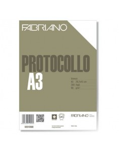 Fogli protocollo Fabriano PROTOCOLLO bianco 60 g/m² 29,7x42 cm senza rigatura conf. da 200 fogli - 02010560