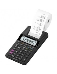 Mini calcolatrice scrivente HR-8RCE-WE con batteria, adattatore AC opzionale nero - HR-8RCE-BK blister