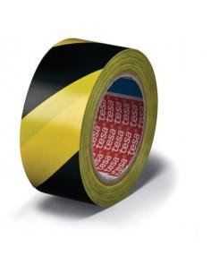 Nastro per segnalazioni in PVC tesa Tesaflex® 60760 rivestito gomma resina 50mmX33m giallo-nero - 60760-00087-15
